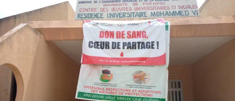 Article : Parakou : campagne de don de sang dans le respect des gestes barrières à l'université