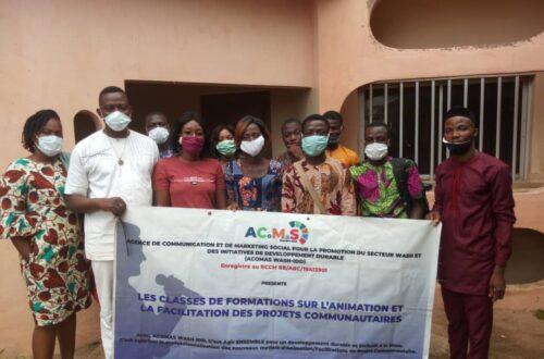 Article : Animation et facilitation des projets communautaires : le groupe acomas-wash idd forme plusieurs jeunes