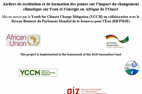 Article : YCCM forme les jeunes sur l'impact du changement climatique sur l'eau et l'énergie en Afrique de l'Ouest