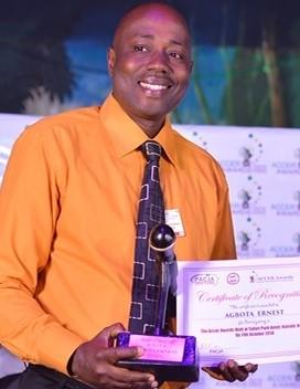 Ernest Agbota, premier prix d'Africa 21 sur l'environnement